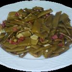 Judias verdes salteadas con jamón y ajo
