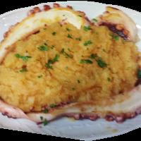 Pulpo plancha con guarnición de patata revolcona