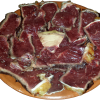 Carne roja a la piedra con sal tostada (Vacuno nacional)